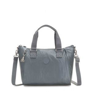 Kipling AMIEL Medium Handbag Steel Grey Metallic