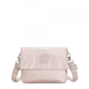 Kipling OSYKA 2 in 1 Crossbody and Pouch with Card Slots Metallic Rose Gifting