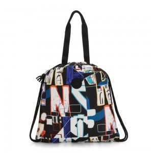 Kipling HIPHURRAY Graphic Medium Tote Bag Alphabet Print