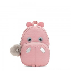 Black Friday 2020 - Kipling HIPPO Small hippo kids backpack Bridal Rose