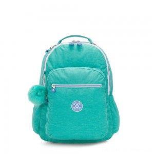 Kipling SEOUL GO Large Backpack with Laptop Protection Deep Aqua C