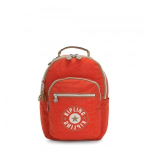 Black Friday 2020 - Kipling SEOUL S Small Backpack with Tablet Compartment Funky Orange Block