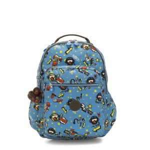 Kipling SEOUL GO Large Backpack with Laptop Protection Monkey Rock