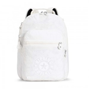 Black Friday 2020 - Kipling CLAS SEOUL Water Repellent Backpack with Laptop Compartment Lively White