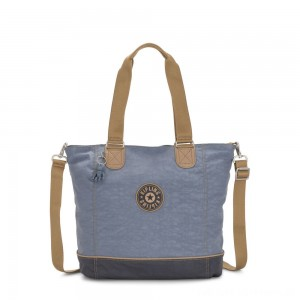 Kipling SHOPPER C Large Shoulder Bag With Removable Shoulder Strap Stone Blue Block