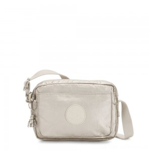 Kipling ABANU Mini Crossbody Bag with Adjustable Shoulder Strap Cloud Metal