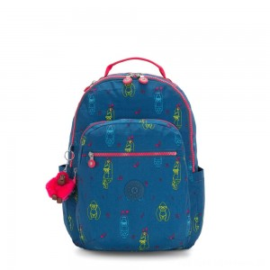 Kipling SEOUL Large Backpack with Laptop Protection Rocking Monkey