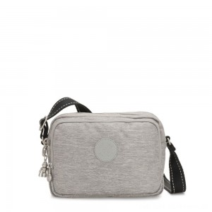 Black Friday 2020 - Kipling SILEN Small Across Body Shoulder Bag Chalk Grey