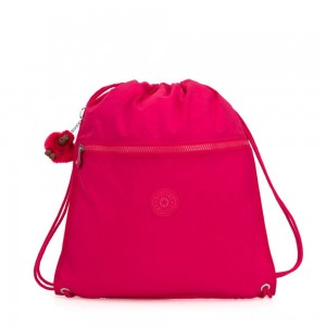 Kipling SUPERTABOO Medium Drawstring Bag True Pink