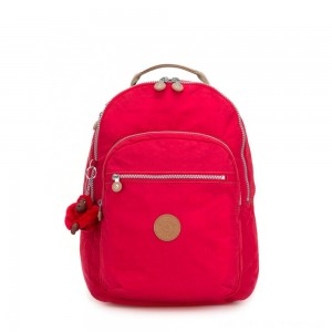 Kipling CLAS SEOUL Large backpack with Laptop Protection True Red C