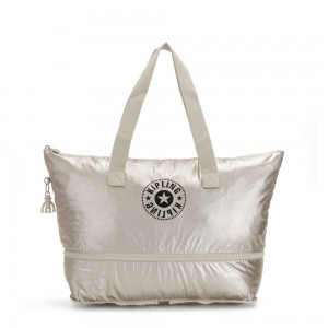 Kipling IMAGINE PACK Large Foldable Tote Bag Cloud Metal Combo