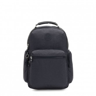 Kipling OSHO Large backpack with organsiational pockets Night Grey