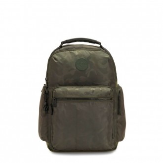 Kipling OSHO Large backpack with organsiational pockets Satin Camo