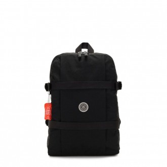 Black Friday 2020 - Kipling TAMIKO Medium backpack with buckle fastening and laptop protection Brave Black