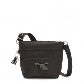 Kipling HAWI Puff effect Medium Crossbody with Shoulder Strap Cold Black