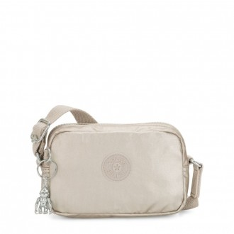 Black Friday 2020 - Kipling SOUTA Small Crossbody with Adjustable Shoulder Strap Cloud Metal Gifting