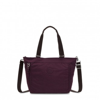 Kipling NEW SHOPPER S Small Shoulder Bag With Removable Shoulder Strap Dark Plum