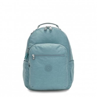Black Friday 2020 - Kipling SEOUL Large backpack with Laptop Protection Aqua Frost