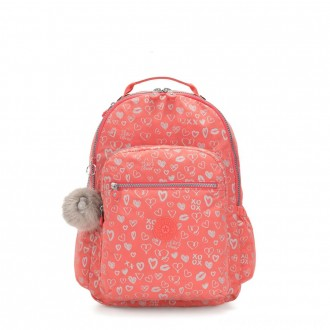 Black Friday 2020 - Kipling SEOUL GO Large Backpack with Laptop Protection Hearty Pink Met