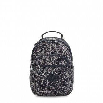Black Friday 2020 - Kipling SEOUL S Small Backpack with Tablet Compartment Navy Stick Print