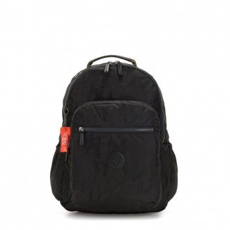 Black Friday 2020 - Kipling SEOUL GO Large backpack with laptop protection Camo Black