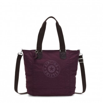 Kipling SHOPPER C Large Shoulder Bag With Removable Shoulder Strap Dark Plum