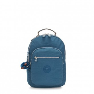 Kipling SEOUL S Small backpack with tablet protection Mystic Blue