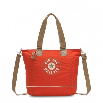 Kipling SHOPPER C Large Shoulder Bag With Removable Shoulder Strap Funky Orange Block