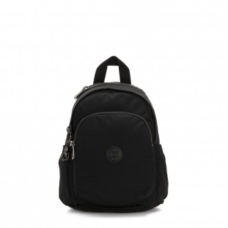 Black Friday 2020 - Kipling DELIA MINI Small Backpack with Front Pocket and Top Handle Rich Black