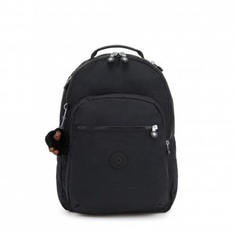 Black Friday 2020 - Kipling CLAS SEOUL Large backpack with Laptop Protection True Black