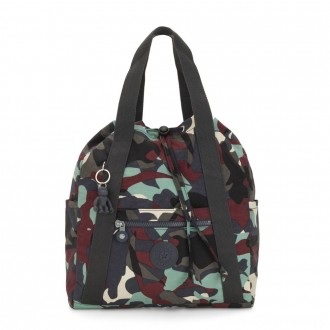Kipling ART BACKPACK S Small Drawstring Backpack Camo Large