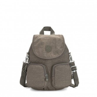 Kipling FIREFLY UP Small Backpack Covertible To Shoulder Bag Seagrass