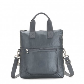 Black Friday 2020 - Kipling ELEVA Shoulderbag with Removable and Adjustable Strap Steel Grey Metallic