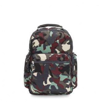 Black Friday 2020 - Kipling OSHO Large backpack with organsiational pockets Camo Large