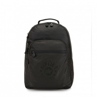 Black Friday 2020 - Kipling CLAS SEOUL Water Repellent Backpack with Laptop Compartment Raw Black