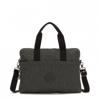 Black Friday 2020 - Kipling ELSIL Laptop Bag with Adjustable Strap Black Indigo Work