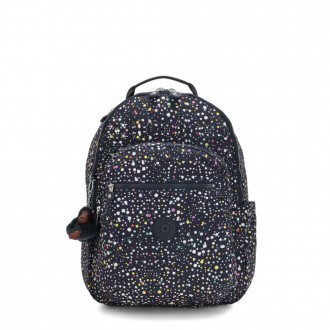 Black Friday 2020 - Kipling SEOUL Large Backpack with Laptop Protection Happy Dot Print