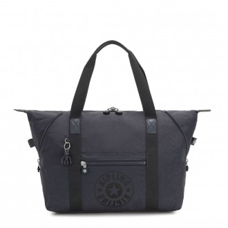 Kipling ART M Medium Tote Bag with 2 Front Pockets Night Grey Nc