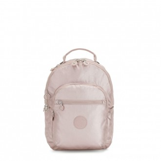 Black Friday 2020 - Kipling SEOUL S Small Backpack with Tablet Compartment Metallic Rose