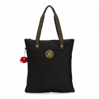 Kipling MYHIPHRY Small Tote Bag with Optional Pouches Special Black