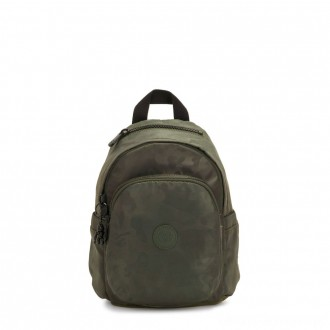 Kipling DELIA MINI Small Backpack with Front Pocket and Top Handle Satin Camo
