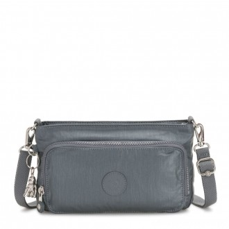 Black Friday 2020 - Kipling MYRTE Small 2 in 1 Crossbody and Pouch Steel Grey Metallic