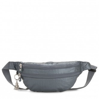 Black Friday 2020 - Kipling SARA Medium Bumbag Convertible to Crossbody Bag Steel Grey Metallic