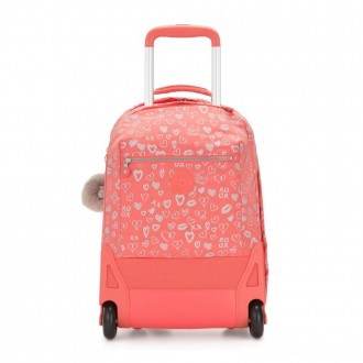 Kipling SOOBIN LIGHT Large wheeled backpack with laptop protection Hearty Pink Met