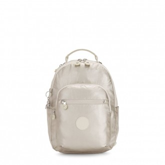 Black Friday 2020 - Kipling SEOUL S Small Backpack with Tablet Compartment Cloud Metal