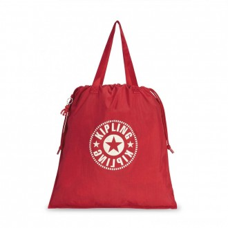 Black Friday 2020 - Kipling NEW HIPHURRAY L FOLD Foldable tote bag with drawstring Lively Red
