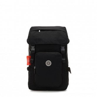 Kipling YANTIS Large backpack with pushbuckle fastening and laptop protection Brave Black