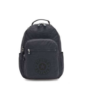 Black Friday 2020 - Kipling SEOUL Water Repellent Backpack with Laptop Compartment Night Grey Nc