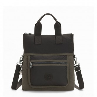 Black Friday 2020 - Kipling ELEVA Shoulderbag with Removable and Adjustable Strap Cold Black Olive
