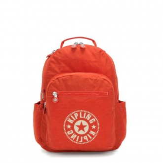 Black Friday 2020 - Kipling SEOUL Water Repellent Backpack with Laptop Compartment Funky Orange Nc